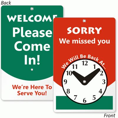 Open and Closed Signs - Open Closed Door Signs | MyDoorSign