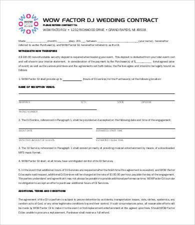 DJ Contract - 9+Free Word, PDF Documents Download   Free & Premium ...