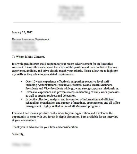A very good cover letter example.: | resume | Pinterest | Cover ...