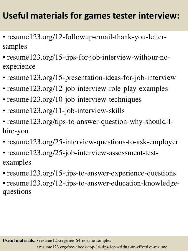 game tester resume sample video game tester cv sample myperfectcv
