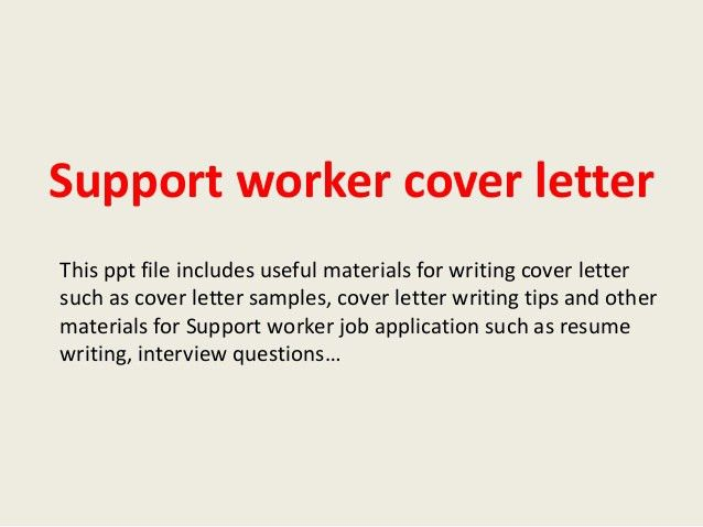 Web Support Cover Letter
