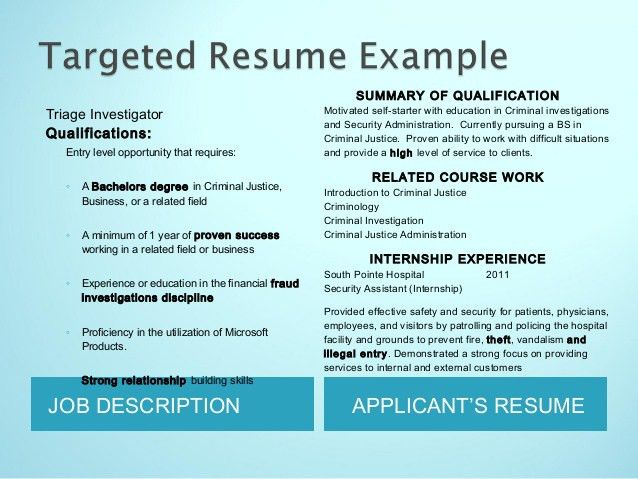 Resume Work Experience Section Criminal Justice Resume Uses .  Criminal Justice Resume Objective