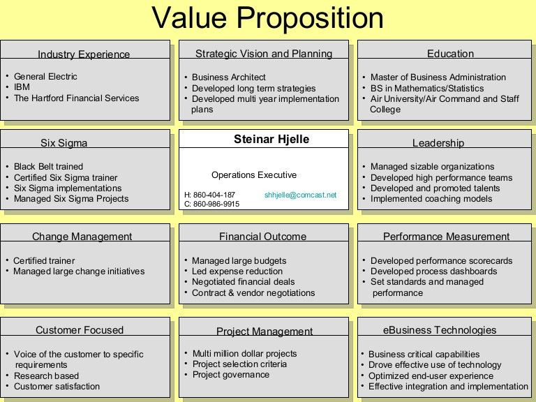 1 Value Proposition Examples (Per Ed Jowdy)