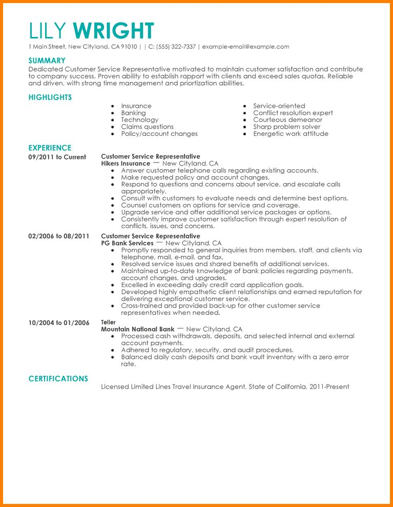 8+ examples resume | resume reference