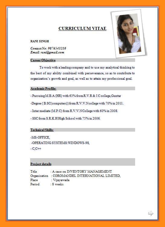 10+ sample of cv for job application pdf – dtn-info