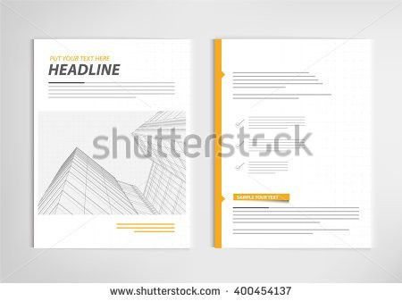 Annual Report Template Design Book Cover Stock Vector 402054337 ...