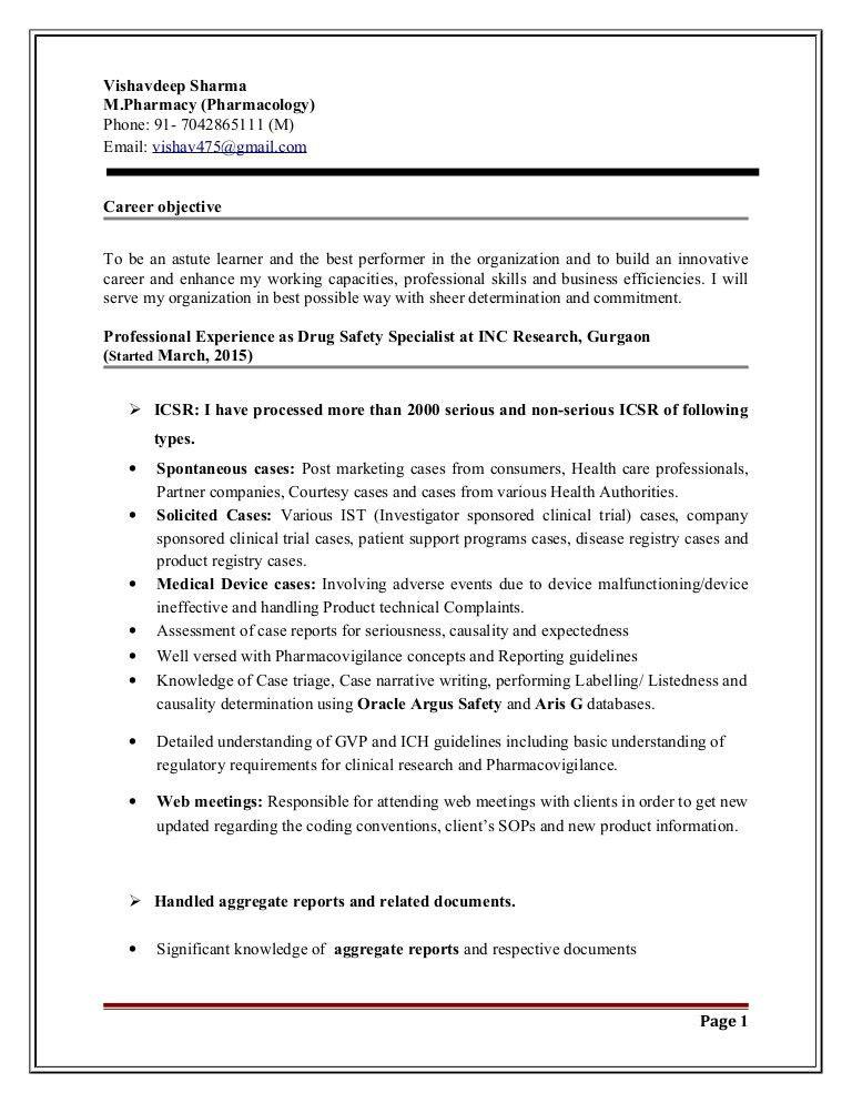 Resume - Vishavdeep (M. Pharm) I (1)r
