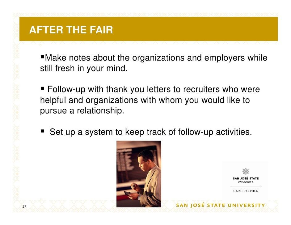 Job Fair Success Workshop 09
