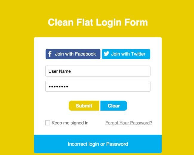 30+ Beautiful HTML/CSS Login, Registration Form Templates 2016 ...