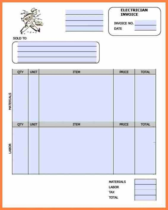 7+ electrical invoice template | Invoice Template