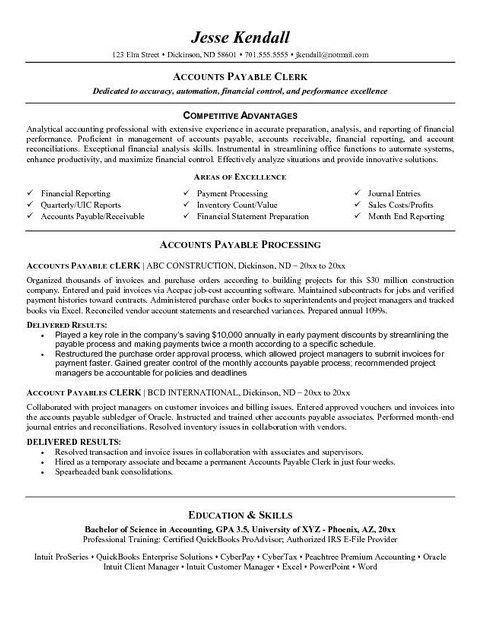 accounting clerk resume objective best accounting clerk resume