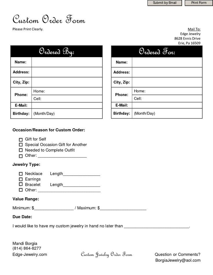 20 best Order forms images on Pinterest | Order form, Cake pricing ...