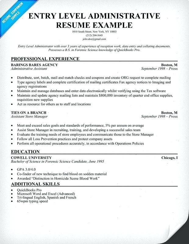 Entry Level Resume Format Doc. computer science resume template 7 ...