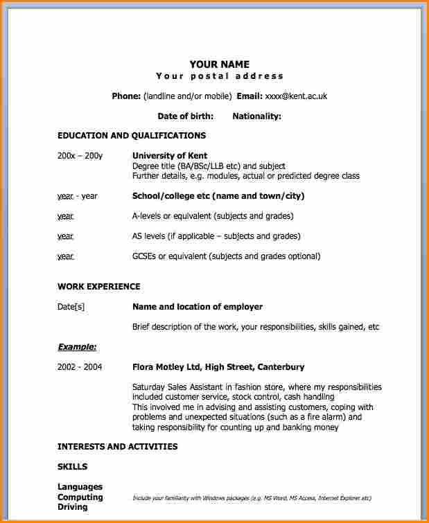 Resume Format One Page 41 One Page Resume Templates Free Samples