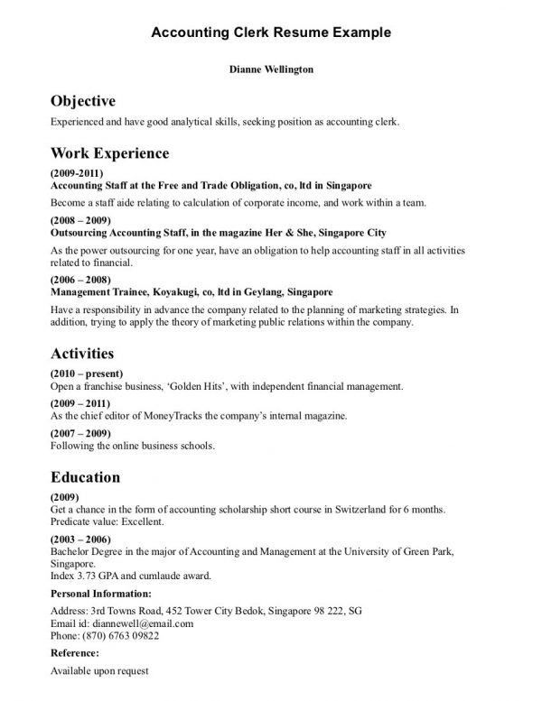 ideas collection clerical assistant sample resume with sample ...