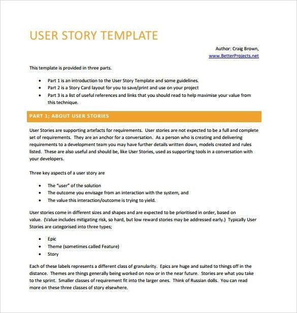 User Story Template | onlinecashsource