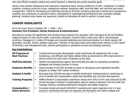 Employee Benefits Director Resume Sample - Reentrycorps