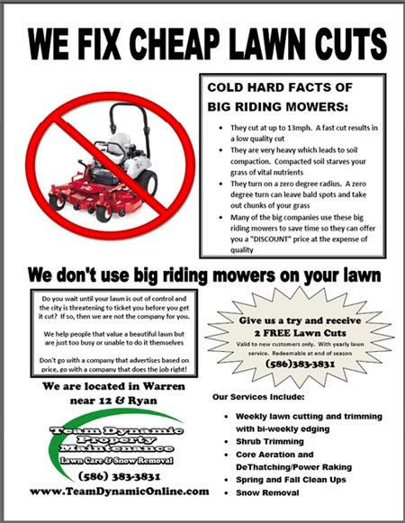 Lawn Care Flyer | Lawn Care Business Marketing Tips - GopherHaul Blog