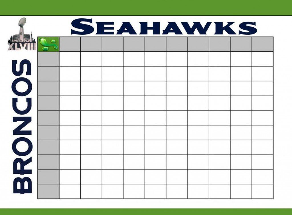 Super Bowl Squares Template Excel | Template Design