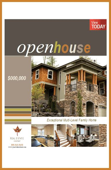 open house flyer template | notary letter