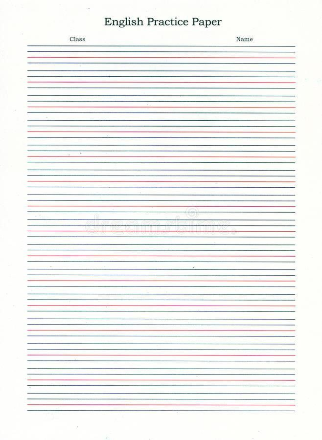 Ruled Writing Paper Royalty Free Stock Images - Image: 22810899