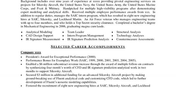 Sample Resume For Aeronautical Engineering Aerospace Engineering ...