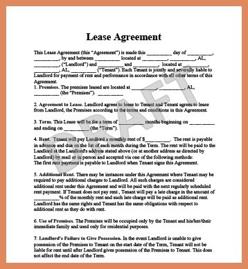 rental lease template | letter format example