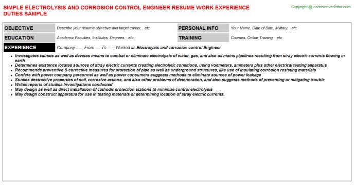 Download Pollution Control Engineer Sample Resume ...