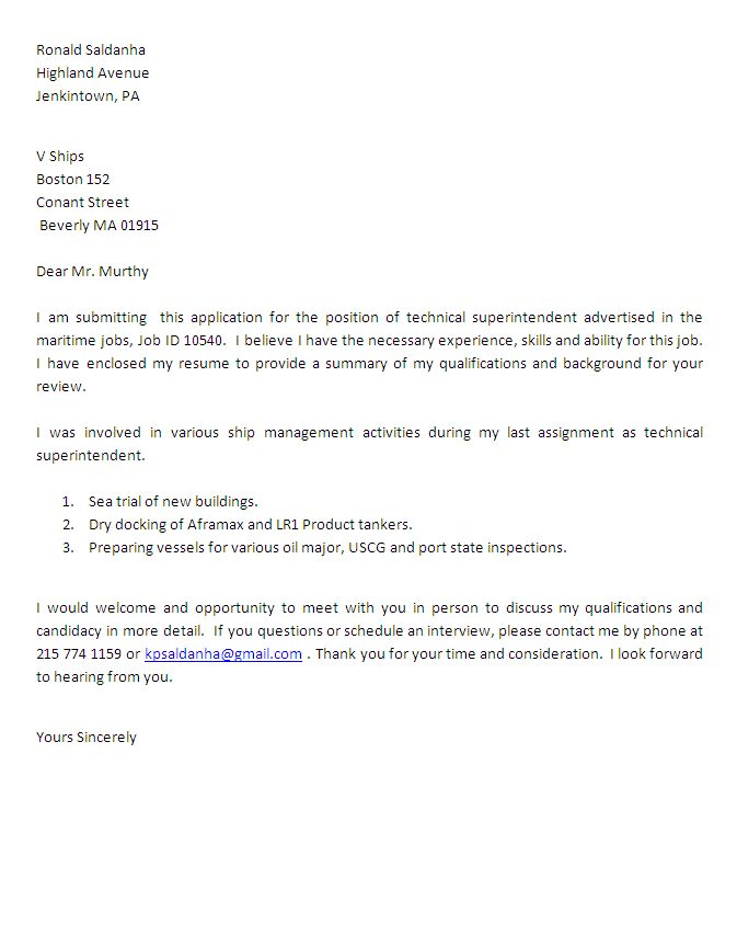tech support cover letters