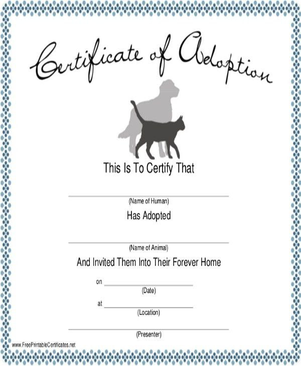 Dog Certificate Template - 7+ Free PDF Documents Download | Free ...