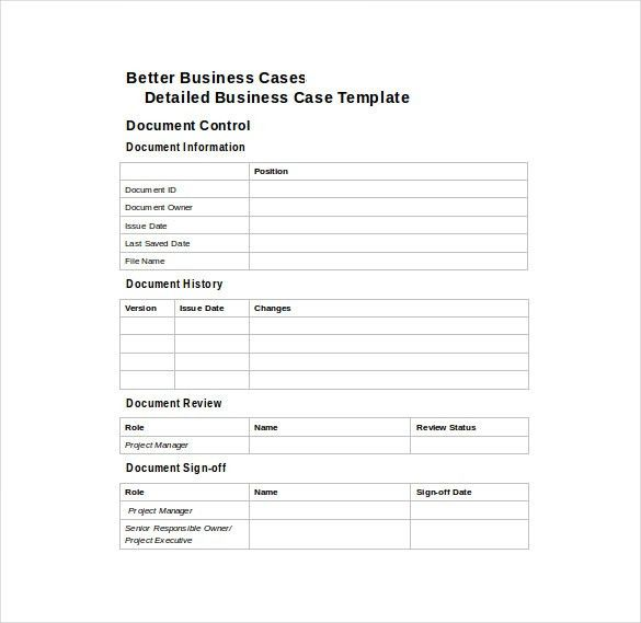 Business Case Template Download : Selimtd