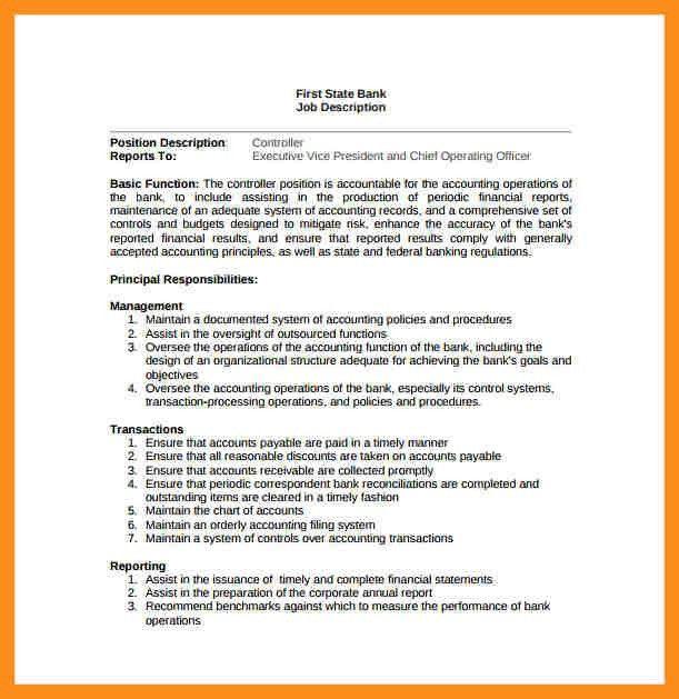 accounts receivable job description samples