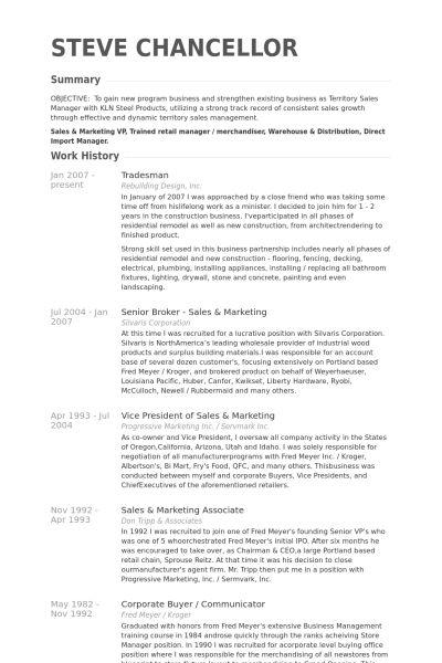 Trades Resume samples - VisualCV resume samples database