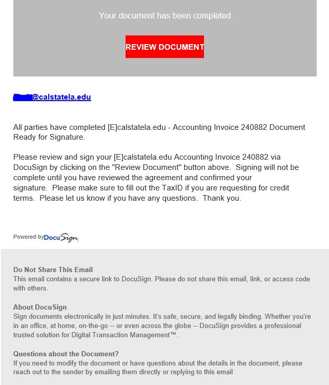 Phishing and Spam Alerts | California State University, Los Angeles