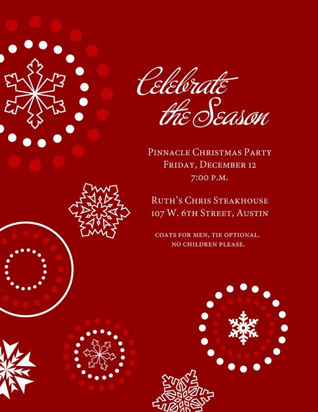 Corporate Holiday Party Invitation Template - iidaemilia.Com
