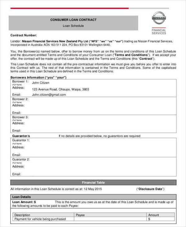 10+ Loan Contract Templates - Free PDF Format Download