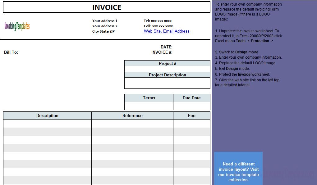 Engineering Service Billing Sample
