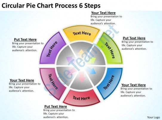 Sample Business Model Diagram Circular Pie Chart Process 6 Steps ...