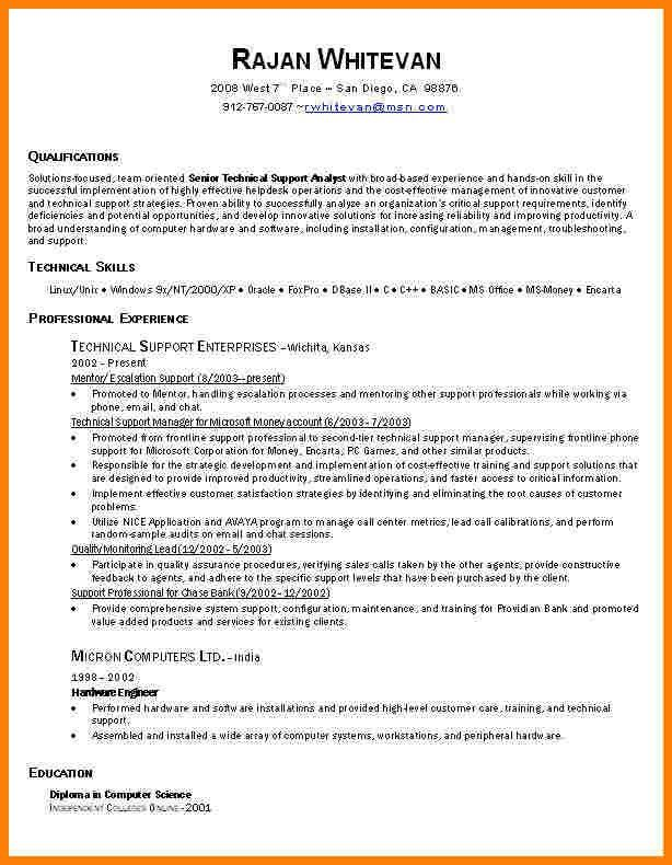 Example It Resume. Sample It Resume From Redrocketresume Home ...
