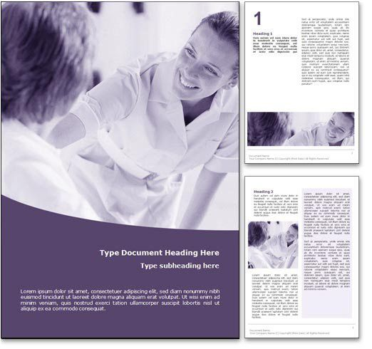 Royalty Free Nursing Microsoft Word Template in Purple