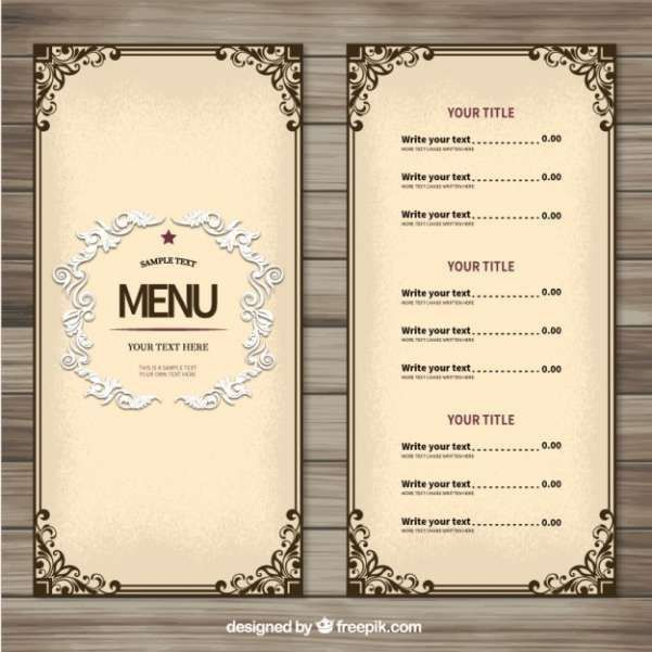 The 25+ best Menu templates ideas on Pinterest | Food menu ...