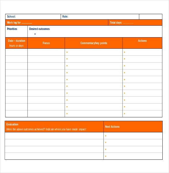Ms Word Diary Template, daily school work template, the monster ...