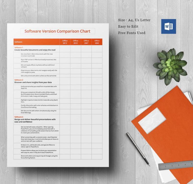 Comparison Chart Template – 45+ Free Word, Excel, PDF Format ...