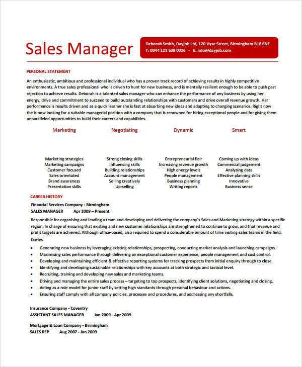 Modern Sales Resume Template- 31+ Free Word, PDF Documents ...