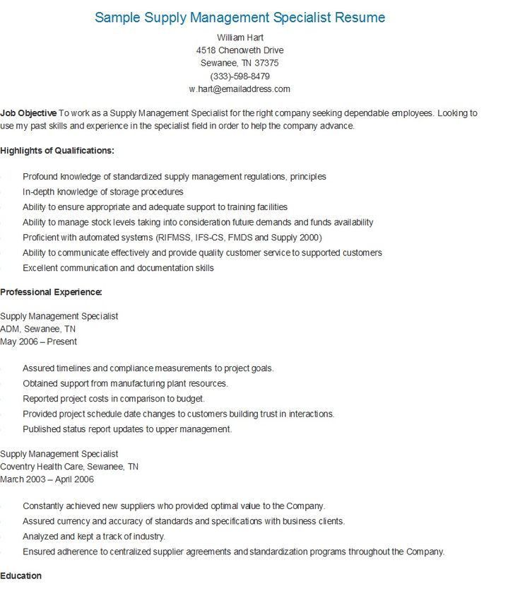 resume examples for logistics management specialist air force ...