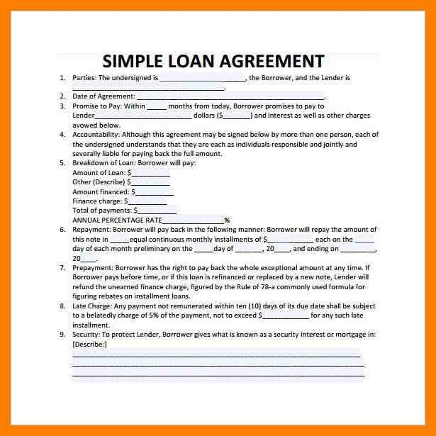 6+ simple loan contract | simple cv formate