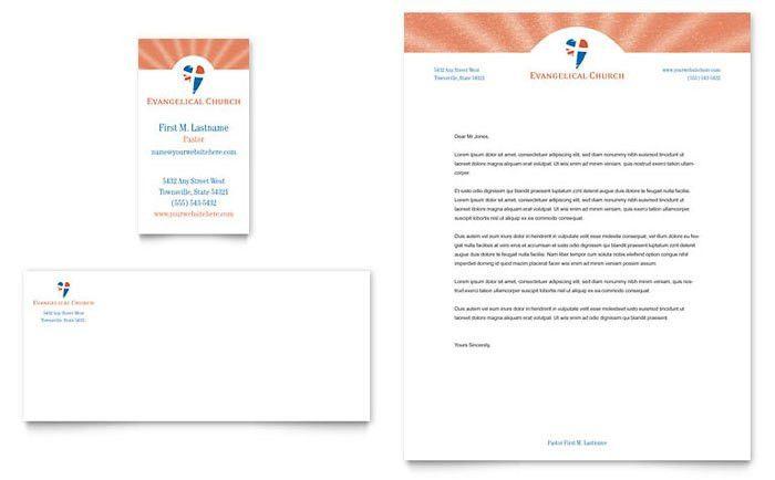Evangelical Church Business Card & Letterhead Template Design