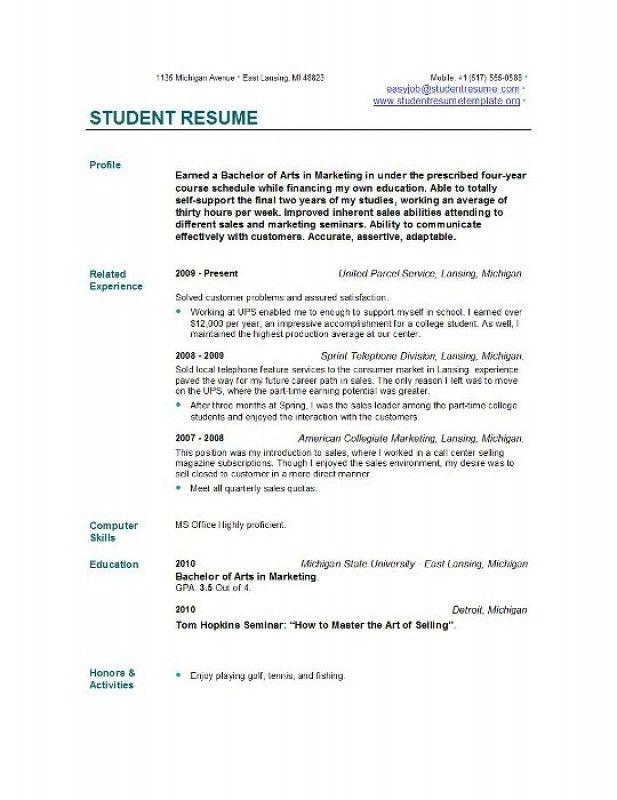 Resume Of Graduate Student – Resume Examples