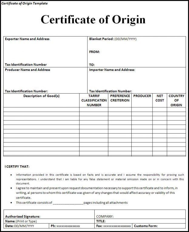 Us Certificate Of Origin Form Shopgrat General Template Examples ...