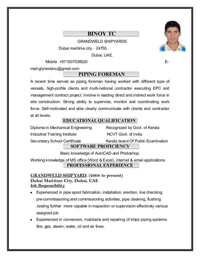 Piping Field Engineer Cover Letter
